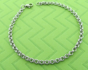 stainless steel chain anklet. avail in 5.5 - 10.5 inches