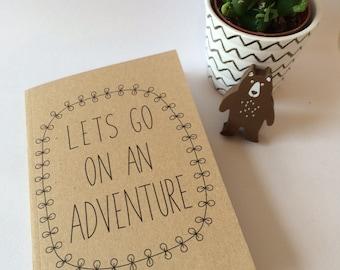 Lets Go On An Adventure A6 Plain Notebook