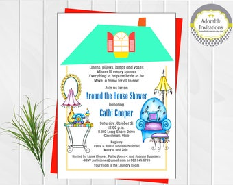 Around the House Bridal Shower Invitation   Pantry Shower Invitation   Bridal Shower Invitation   Printable