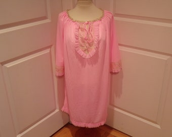 Vintage 1960's  Pink Nightie  Deadstock  Large/Extra Large