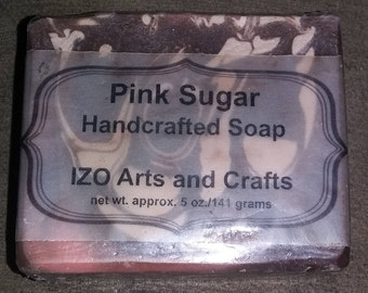 Pink Sugar Type Cold Process Goat Milk Soap
