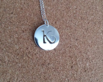 Letter K Necklace, Letter K Jewelry, Monogram Pendant, Personalized Jewelry, Sterling Silver Pendant, Initial pendant, Name Pendant