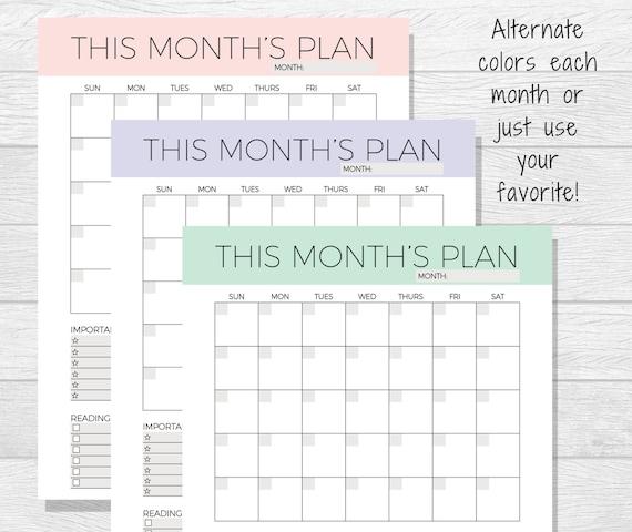 this month calendar