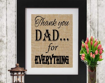 Gift for Dad - Thank you Dad for Everything - Christmas Gift for Dad - Father's Gift - Gift for Father - Gift for Christmas - Print for Dad