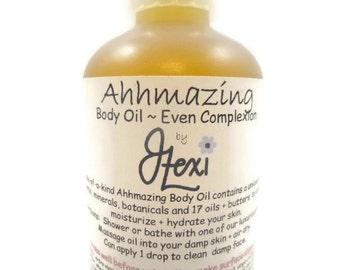 Ahhmazing Body Oil ~ Even Complexion, massage oil, body oil, moisturizing body oil, herbal body oil, complexion body oil, blemish body oil