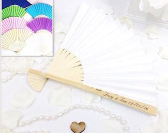 Wooden fan, wedding fan, personalised fan, Hand fan, wedding favours , personalised wedding favours. MUlTIPLE COLOURS