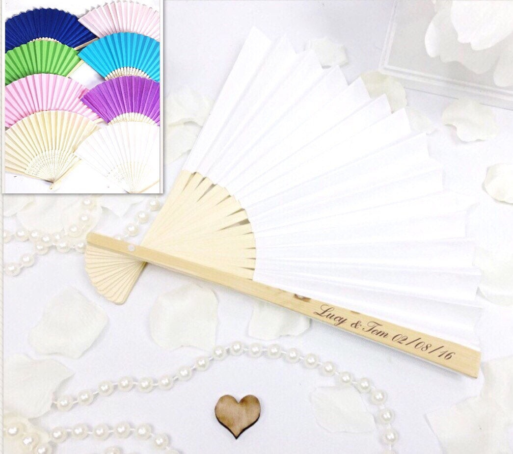 Wooden fan wedding fan personalised fan Hand fan wedding