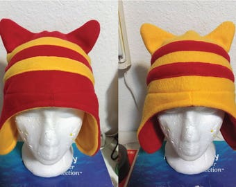 Striped Reversible Kitty Ear Hat
