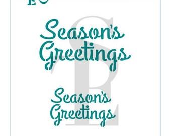 Season's Greetings Stencil