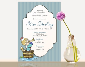 Precious Moments Baby Shower Invitation -Bridal Shower- Baby shower party invite-Girl - Boy Baby Shower Party