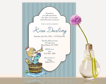 Precious Moments Baby Shower Invitation  Bridal Shower  Baby Shower Party  Invite Girl