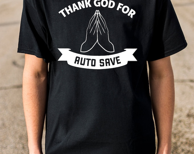 Auto Save 100% Soft Cotton Gamer Shirt