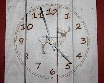 Pallet Deer Clock