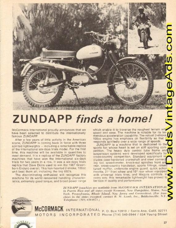 1968 Zundapp 100 ISDT Replica Ad #d68ia14