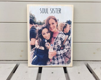 Personalised Photo Transfer onto Wooden Sign