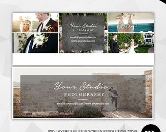 Facebook Timeline Cover Photoshop Template for Photographer - INSTANT DOWNLOAD - FT008