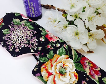Scented eyemask, eye pillow, aromatherapy gift, relaxation gift, pamper gift, lavender eyemask, migraine relief, weighted eyemask