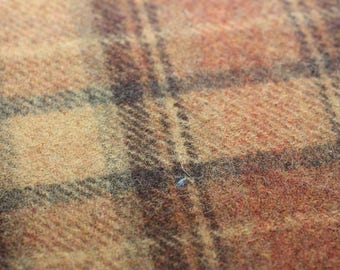 Wool, Plaid of black, rust and tan
