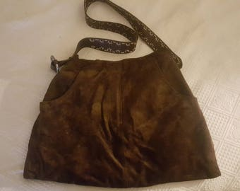 Homemade custom one of a kind Suede ReSkirt Bag