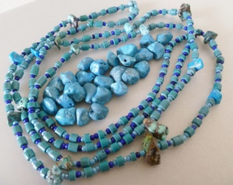 Bundle of vintage turquoise beads