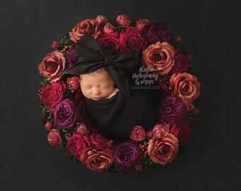 NOIR Gorgeous Wrap- headwrap; fabric head wrap; black head wrap; boho; newborn headband; baby headband; toddler headband