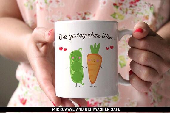 Coffee Mug We Go Together Like Peas and Carrots Coffee Mug  - Best Friends Coffee Mug