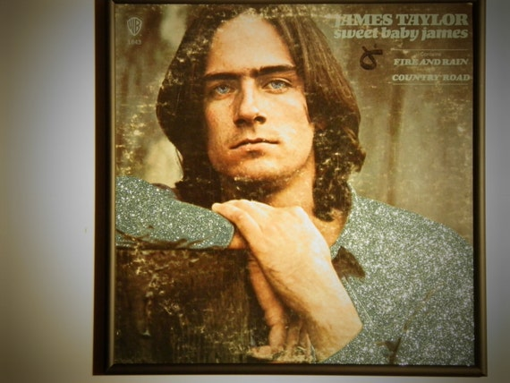 Glittered Record Album - James Taylor - Sweet Baby James