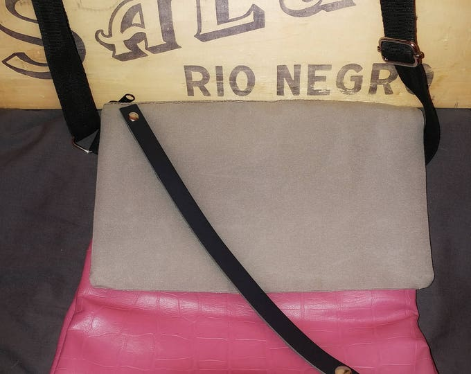 Mamzelle Élise bag, adjustable and eco-friendly black and beige