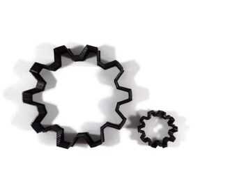 Gear Cookie Cutter - Cog Fondant Cutter - Sprocket Cupcake Topper