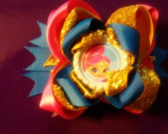 Shimmer and Shine Mini Hair Bow