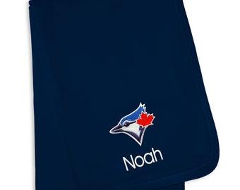 Personalized Toronto Blue Jays Baby Blanket Navy