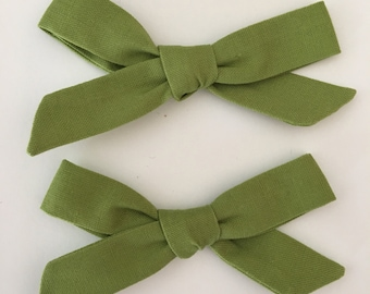 Avocado  Green school girl bow