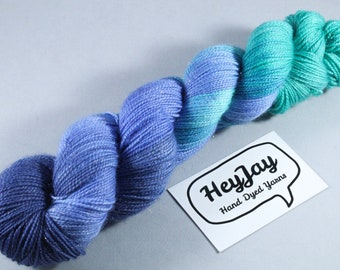 Hand Dyed Sparkle Merino Sock Yarn - Slushy