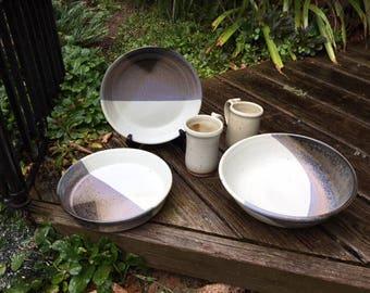 Hand Thrown Stoneware Dinner Set