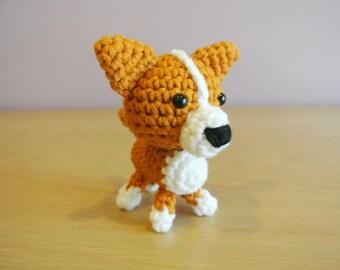 Crochet Corgi Amigurumi  - Handmade Crochet Amigurumi - Corgi Puppy Dog - Corgi Crochet - Amigurumi Corgi - Crochet Dog