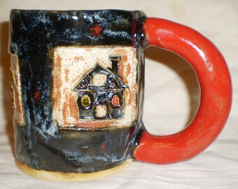 Eerie Haunted House Stamp Mug