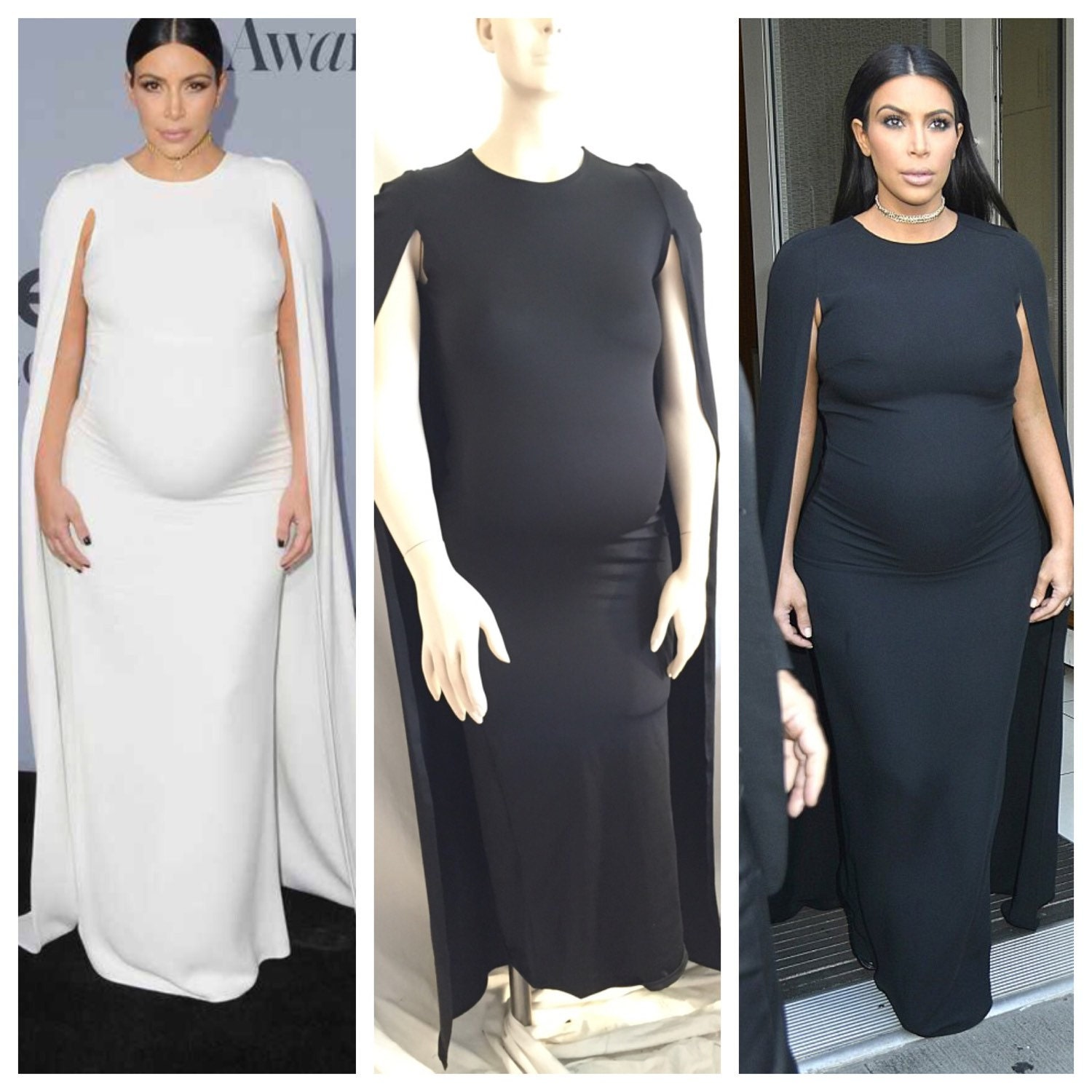 Classy maternity gown fitted dress with cape babyshower zoom ombrellifo Choice Image
