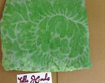 Emerald Green Burnout Fabric