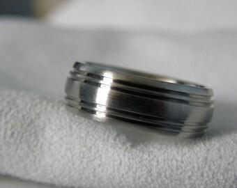 Titanium Ring, Wedding Band, Mens Wedding Ring