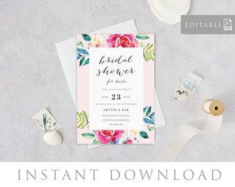 Bridal Shower Invitation INSTANT DOWNLOAD,  Bridal Shower Invite, Before I do, Bachelorette Printable, Hens Night Invitation - Mystery