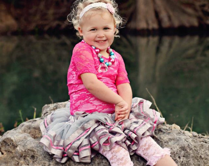 Pettiskirt TuTu Lined with Satin Ribbon and made with soft chiffon in a variety of colors.
