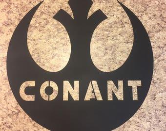 Custom Star Wars Rebel Sign