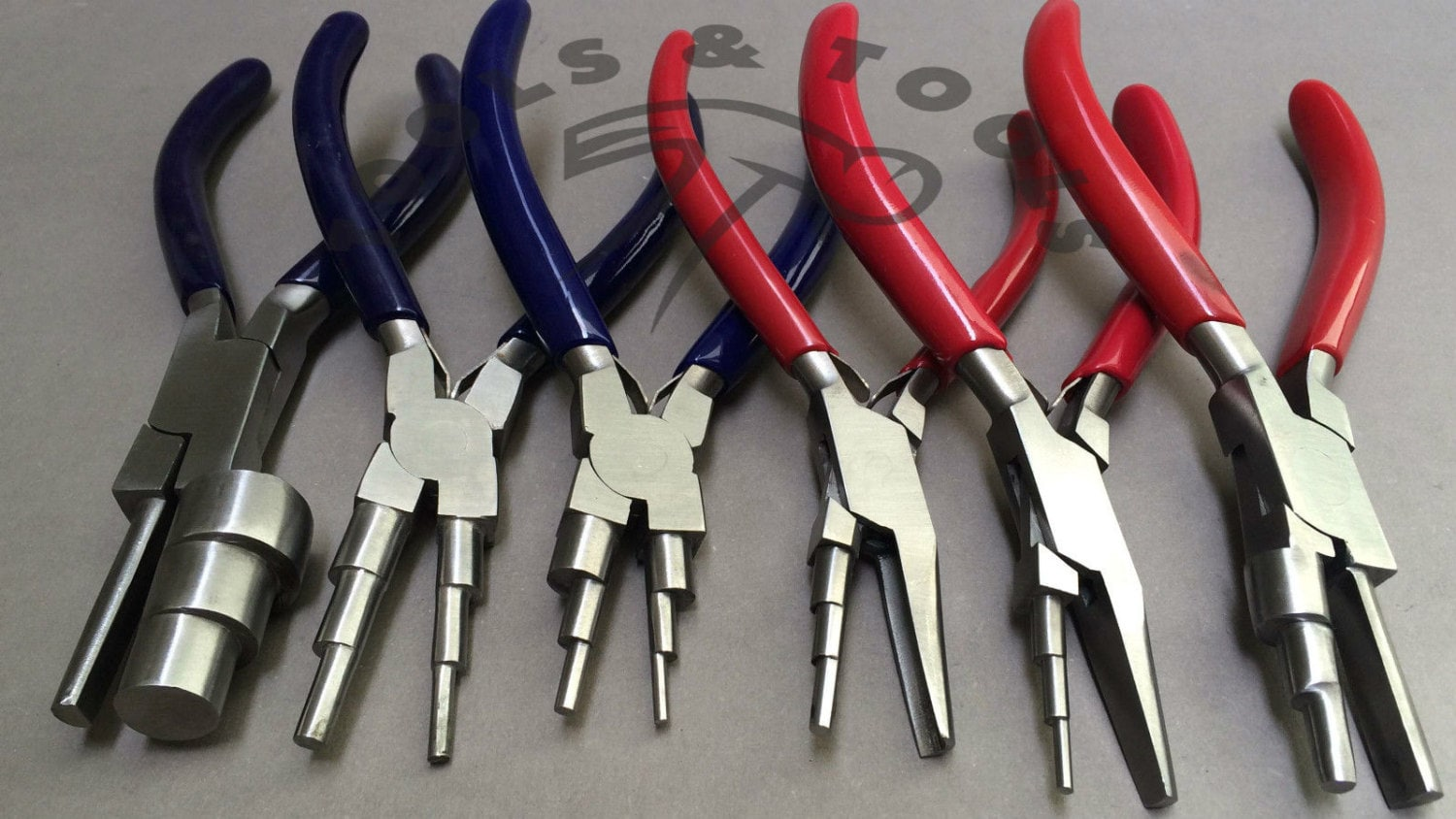 6 in 1 and 3 Step Wrap N Tap Pliers Jewelry Wire Bail Making Tools ...