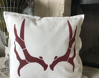 Decorative Southwestern Antlers Throw Pillow