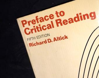 1969 Preface to Critical Reading