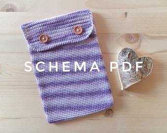 PDF PATTERN crochet case, ipad case, instant download.