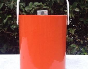 Double Height Orange Vinyl Morgan Design Bucket Birgade Ice Bucket