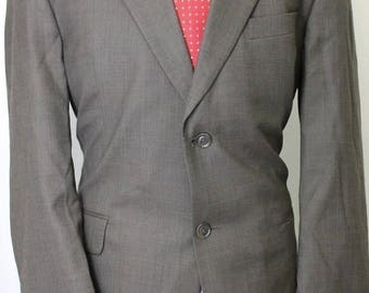 Vintage 42R Stafford Brown 100% Wool Sport Coat Blazer Jacket OC6