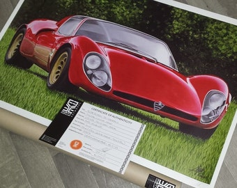 Alfa Romeo 33 Stradale Limited Edition Prints