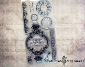 Set of 13 SHABBY CHIC clear stamps KAISERCRAFT